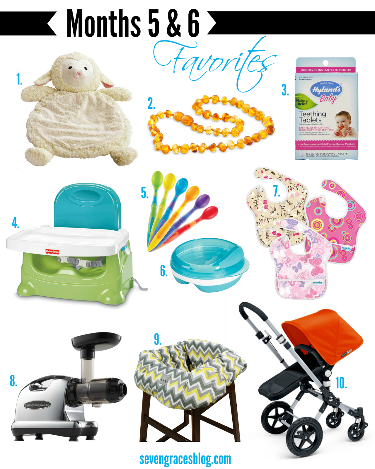 Top 10 Baby Items For Months 5 & 6: Teething & Feeding