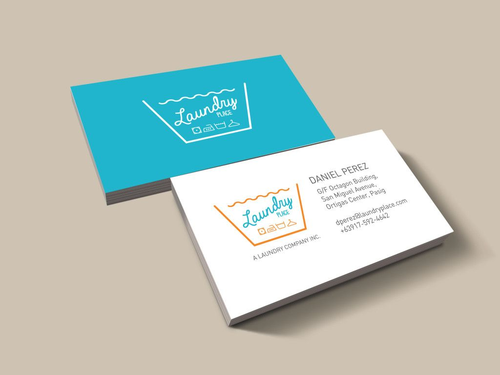 Mockup Business Card Cleaning Business Cards Laundry Logo