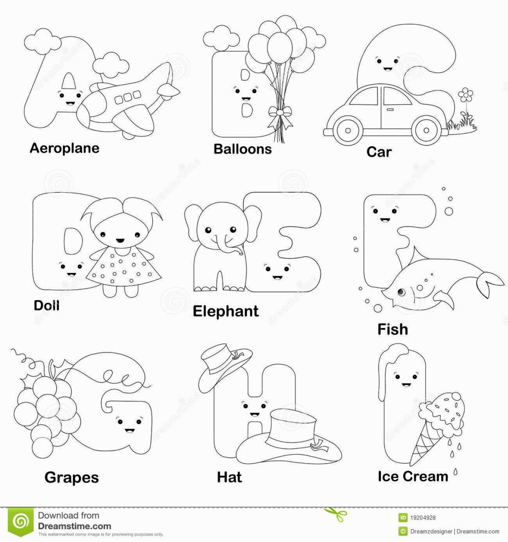 Image For Preschool Alphabet Coloring Pages