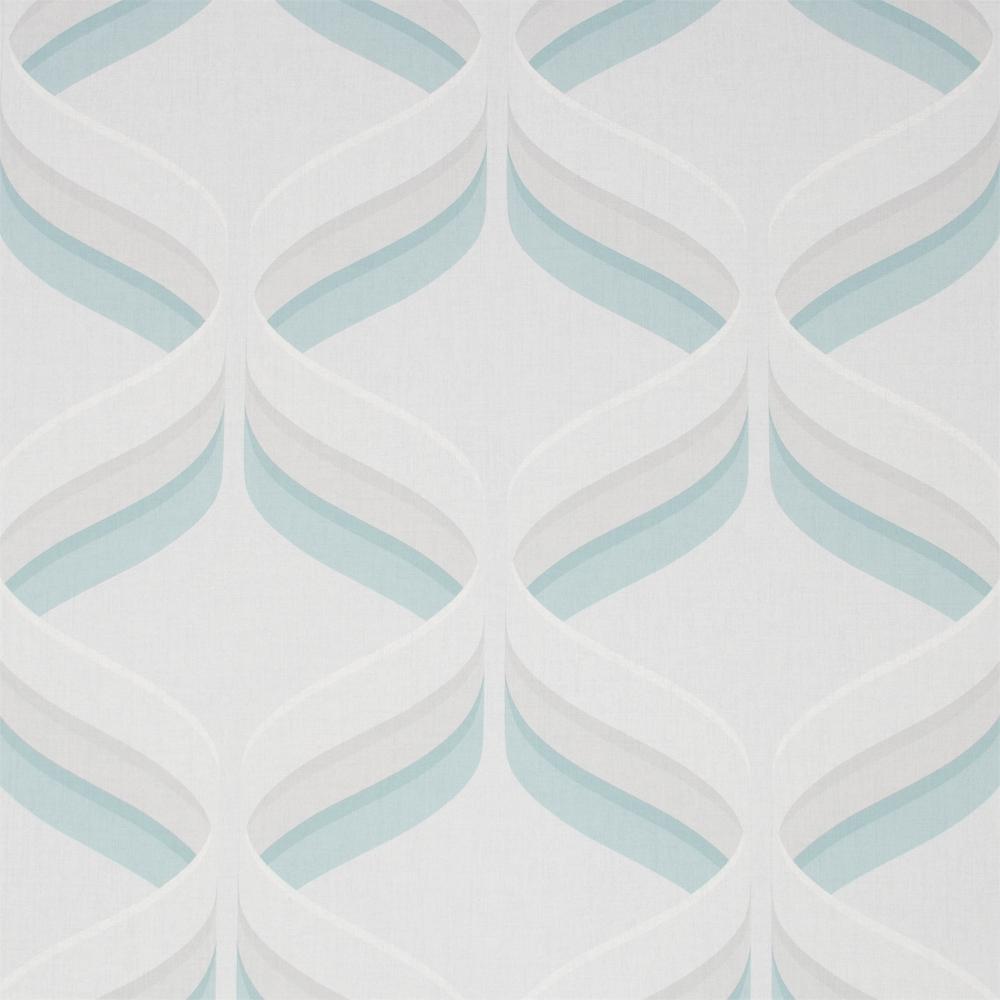 Fresco Retro Ogee Sky Blue Wallpaper in 2020 Blue