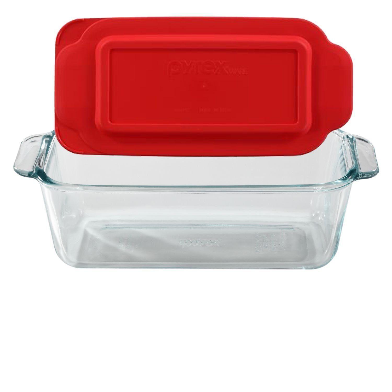 Pyrex Basics 1.5-Quart Loaf Pan Glass