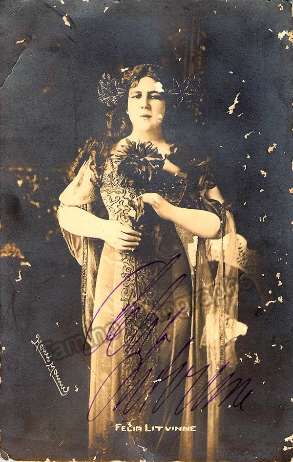 Litvinne, Felia - Autograph and Memorabilia Lot