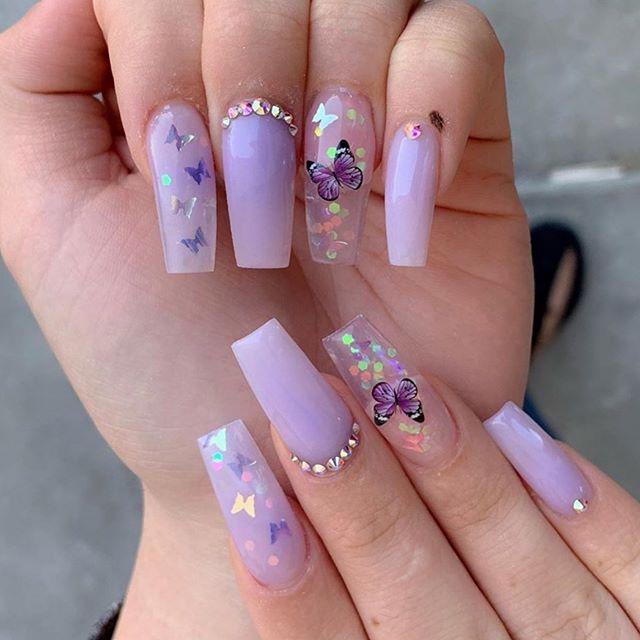Nailsby Melissa Allacrylic Theglitternail Nailspink Nailsmania Nailswow Lovenailart Nailswagg Nailte Purple Acrylic Nails Purple Nails Swag Nails