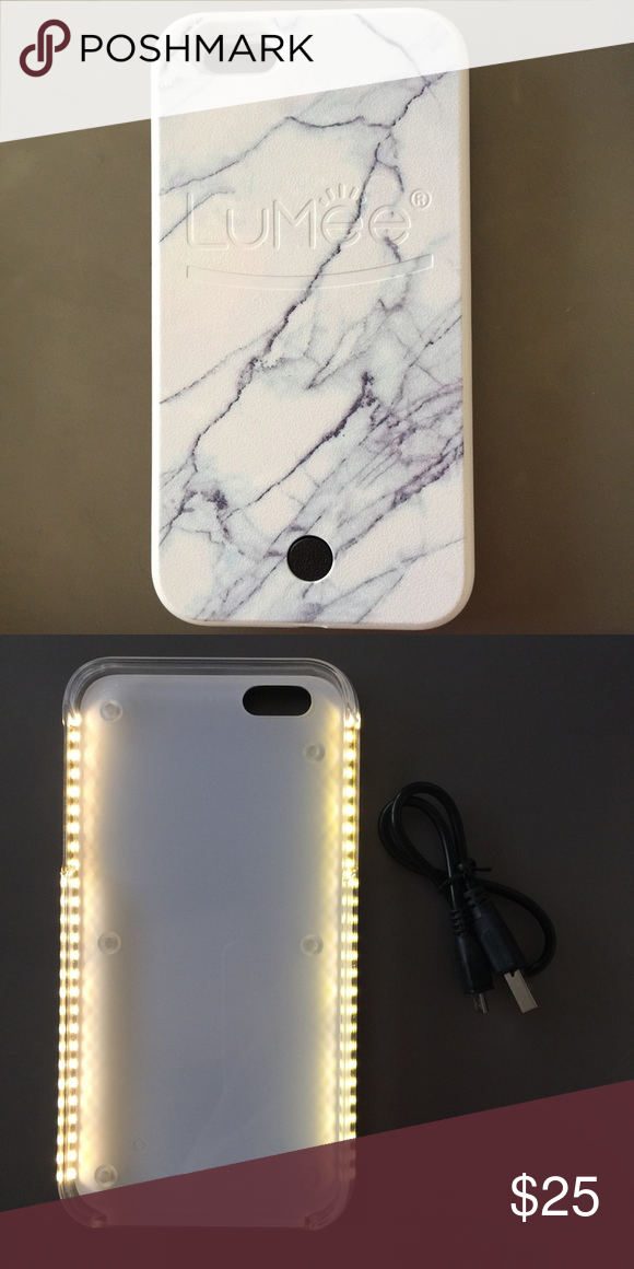 online retailer 6d93c eb204 Lumee IPhone 6 6s Selfie Case Only for iPhone 6 or 6s. White marble ...
