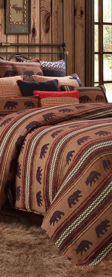 Best Kodiak Lodge Bedding Collection Rustic Design Rustic 400 x 300