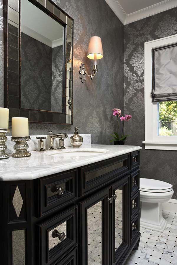 Bathroom Mirrors Kansas City 60 creative ways to showcase wallpaper on your walls | wallpaper