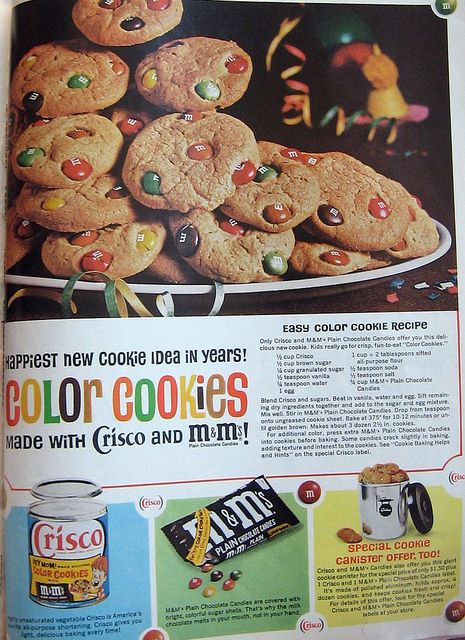 Crisco MMs Cookies From Better Homes Gardens - Better homes and gardens brownie recipe