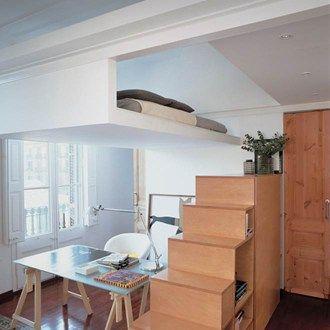mezzanine cosy id es mezzanine petit espace amenagement petit espace et espace. Black Bedroom Furniture Sets. Home Design Ideas