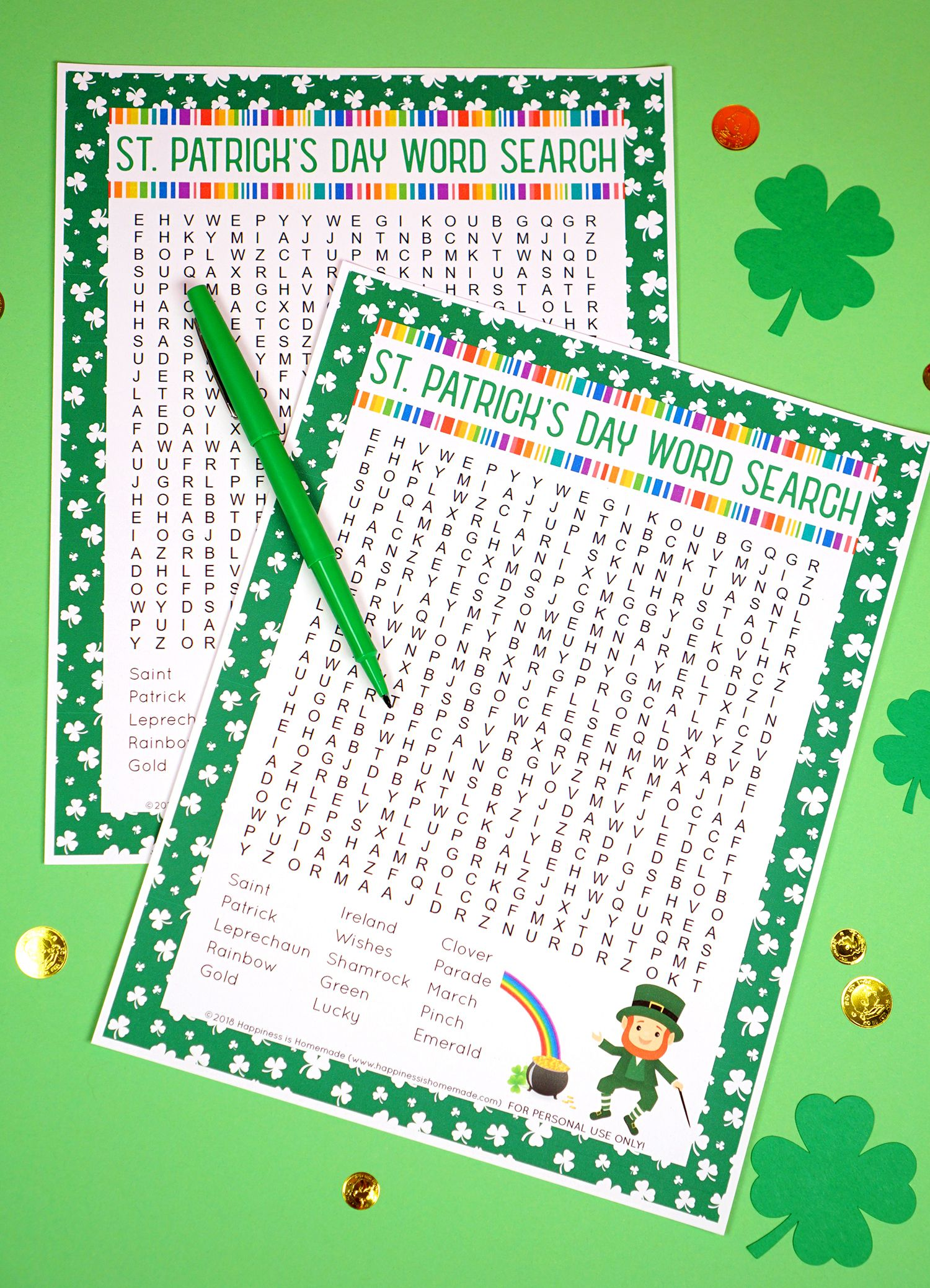 Free Printable St Patrick S Day Crossword Puzzles In