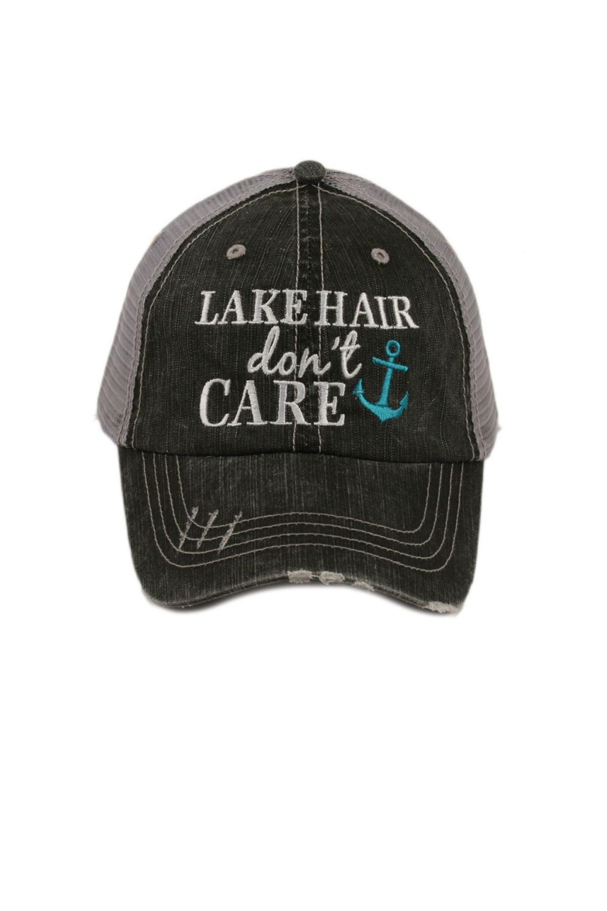 8d69f756d1f How fun for lounging days at the beach or lake! We love our distressed  denim trucker hat in vintage wash and and adjustable tab with mesh back.