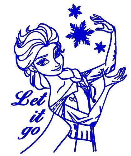 Wholesale Frozen Elsa Olaf Let It Go Blue Car Truck VINYL Decal - Vinyl decals for cars wholesale