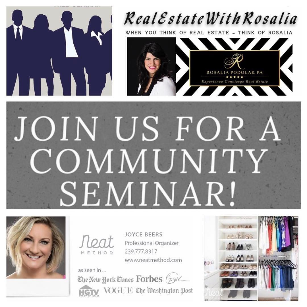 10 Seats Left  Win 2 Free Hours of Organization! This Thur Jan 26 11:30-12:30  IberiaBank 1905 PineRidge  Reserve your spot!!! Lunch provided  Click link to RSVP https://lnkd.in/evAcZvR #naplesflorida #naplesfl #swfl #swflevents #events #organization #rosaliapodolak #yes