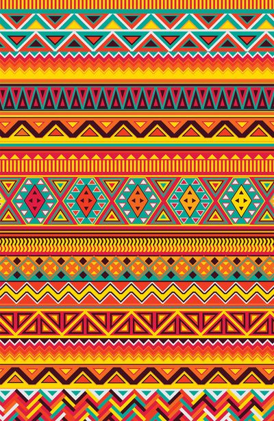 Aztec Pattern Art Print Design Color Patterns Pinterest Gorgeous Aztec Pattern