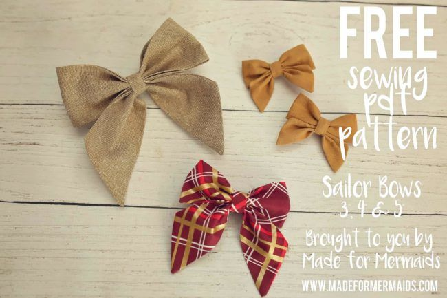 FREE PDF PATTERN- Sydney Sailor Bows in 3 sizes