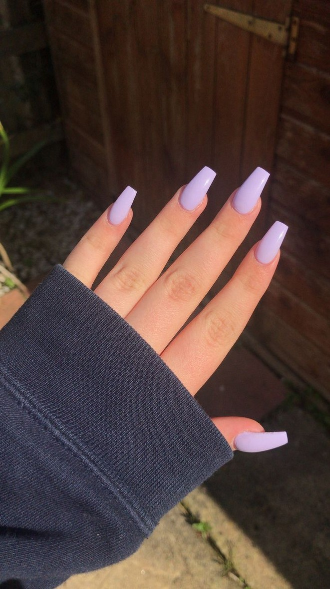 55 Beatiful Primary Color Acrylic Nails Short 9 White Acrylic Nails Pretty Acrylic Nails Purple Nail Designs