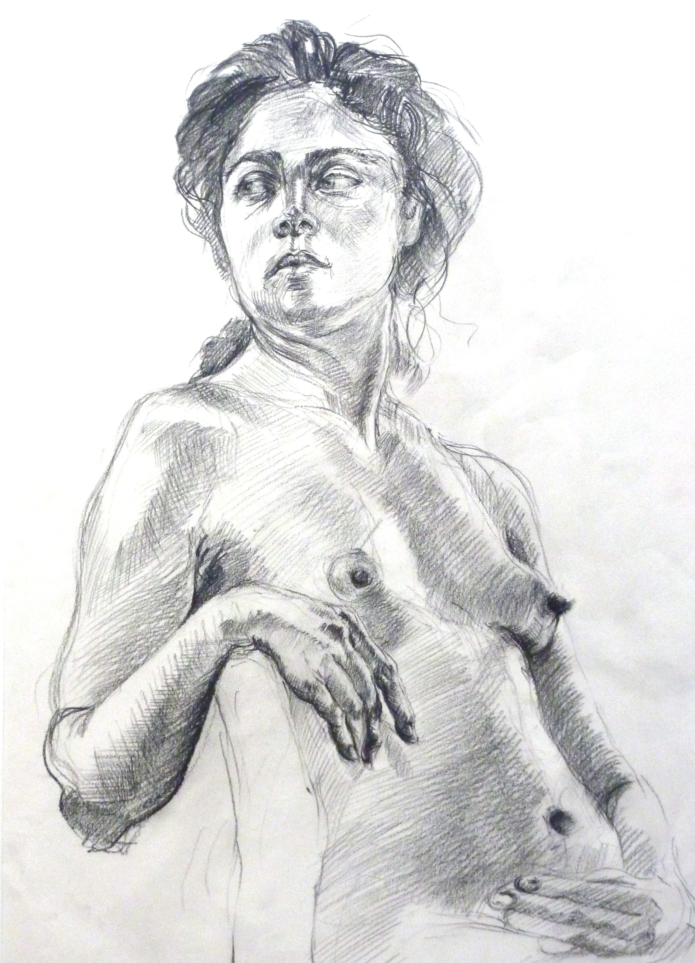 Chris Lines, Life Drawing, chinagraph marker
