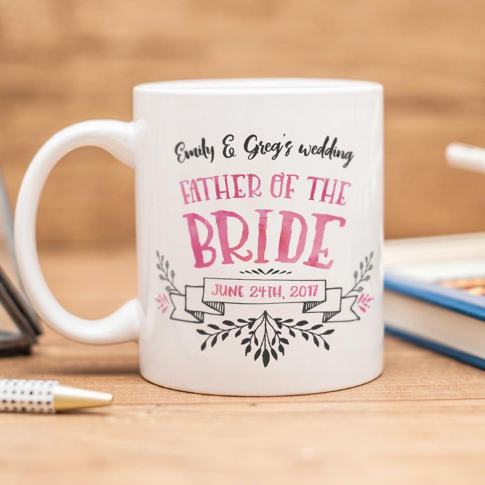 Father of the bride mug beautiful wedding favor