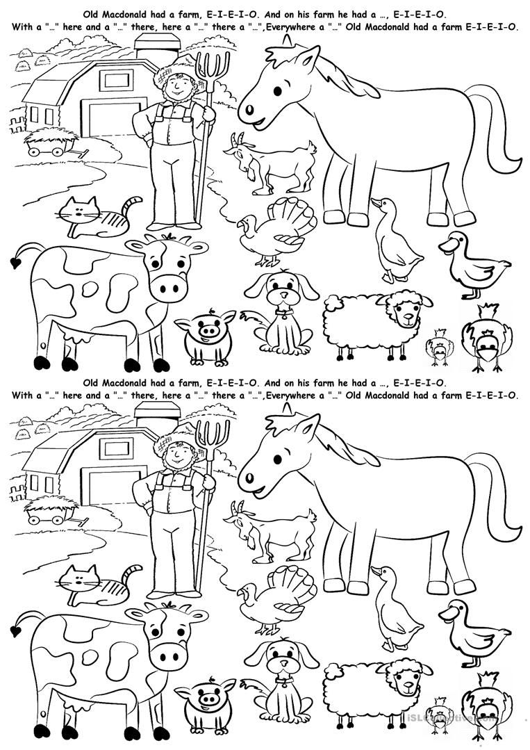 121 free esl farm animals worksheets animal habitat for