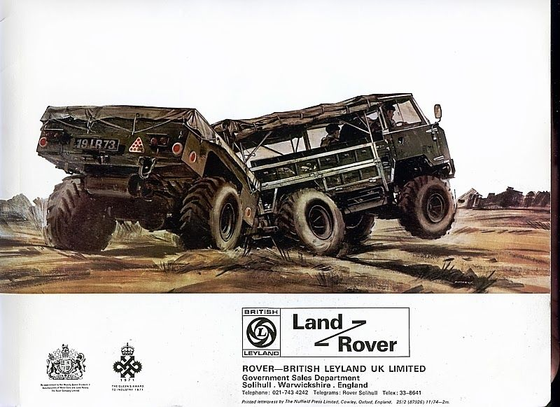 The Land Rover One-Tonne classic (101 Forward Control) was designed originally for travel on a aircraft because of the positioning of the 3.5 litre Rover V8 engine beneath and to the rear of the cab which eliminates the bonnet at the front, making a cube form to use averagely unused space when in transit.