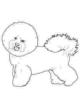Bichon Frise Coloring Page Super Coloring Dog Coloring Page Dog Pattern Stuffed Animal Patterns