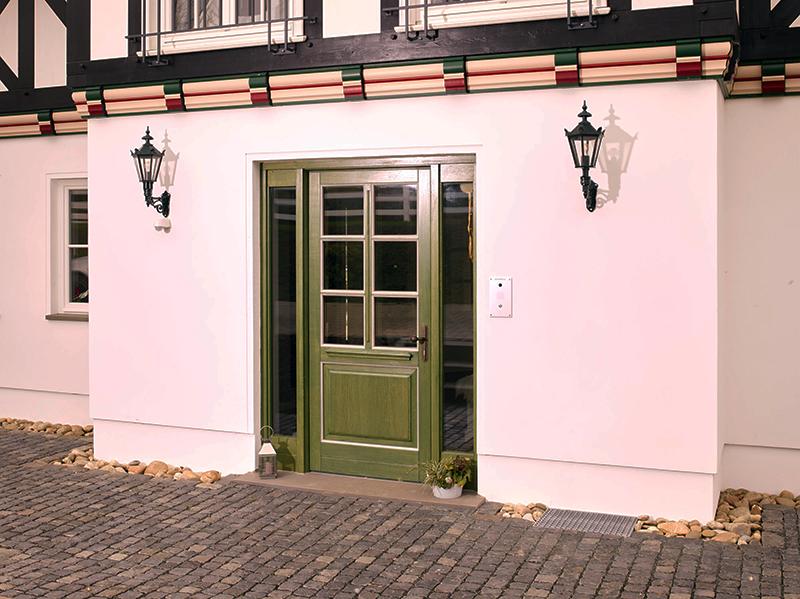 Gut bekannt Haustür Landhaus, Rahmentür, wärmegedämmt, hohe Sicherheit, grün PN23