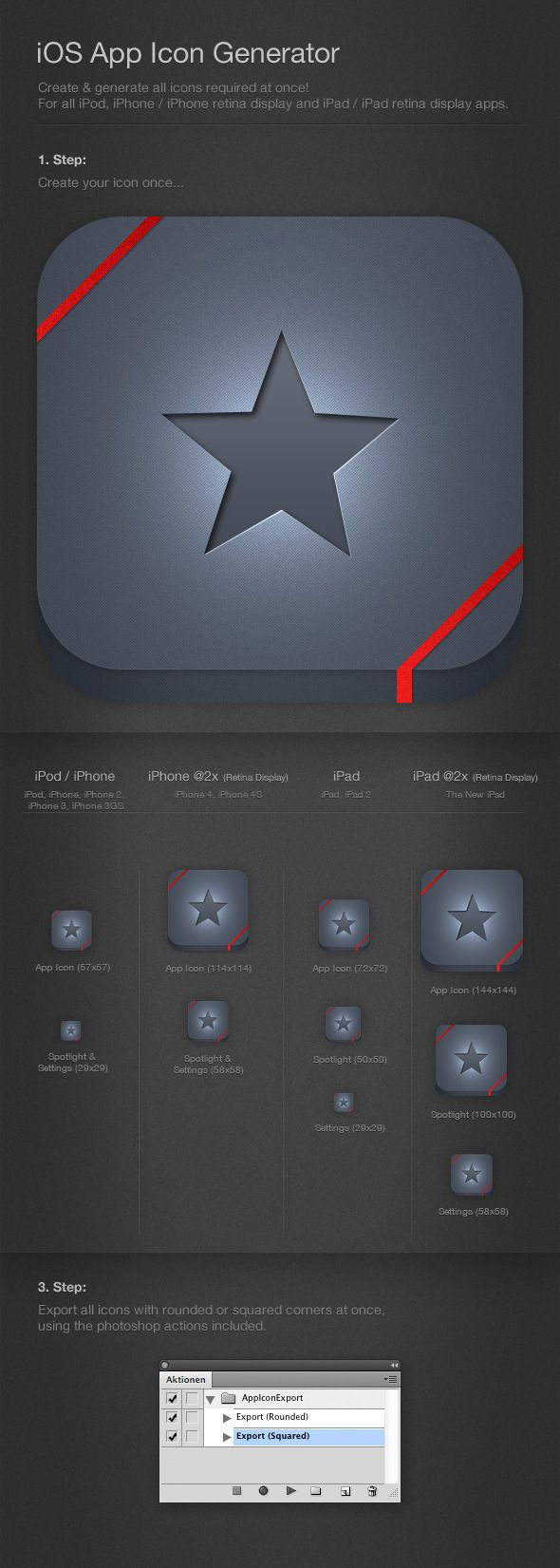 iOS Icon Generator & Exporter This template
