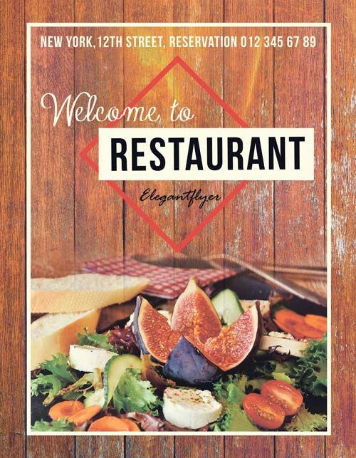 Food Restaurant Free Flyer Template -    freepsdflyer food - food flyer template