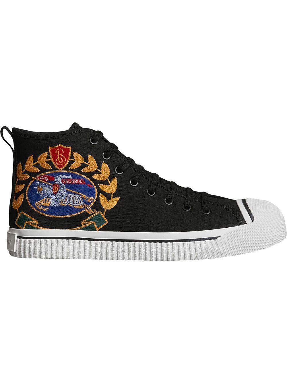 Burberry Archive Logo hi-top sneakers