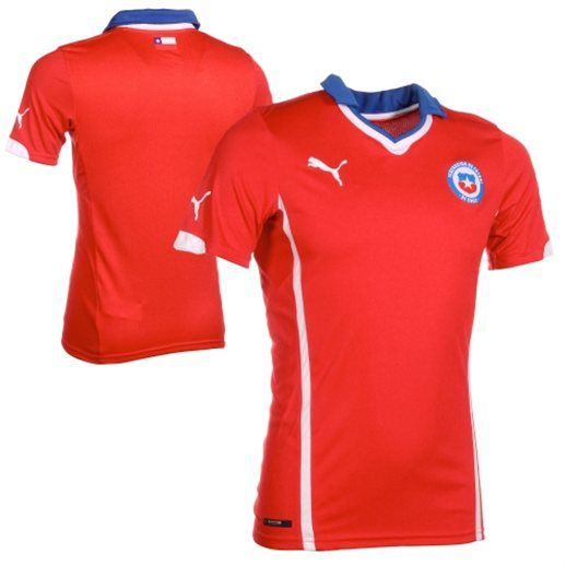 Chile Puma 2014 World Cup Soccer Home Jersey Arsenal Jersey Soccer Team Soccer