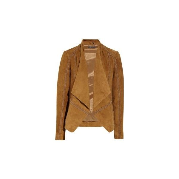 olivine joie draped beige desert lyst normal fog jacket clothing natural deep product drapes in suede