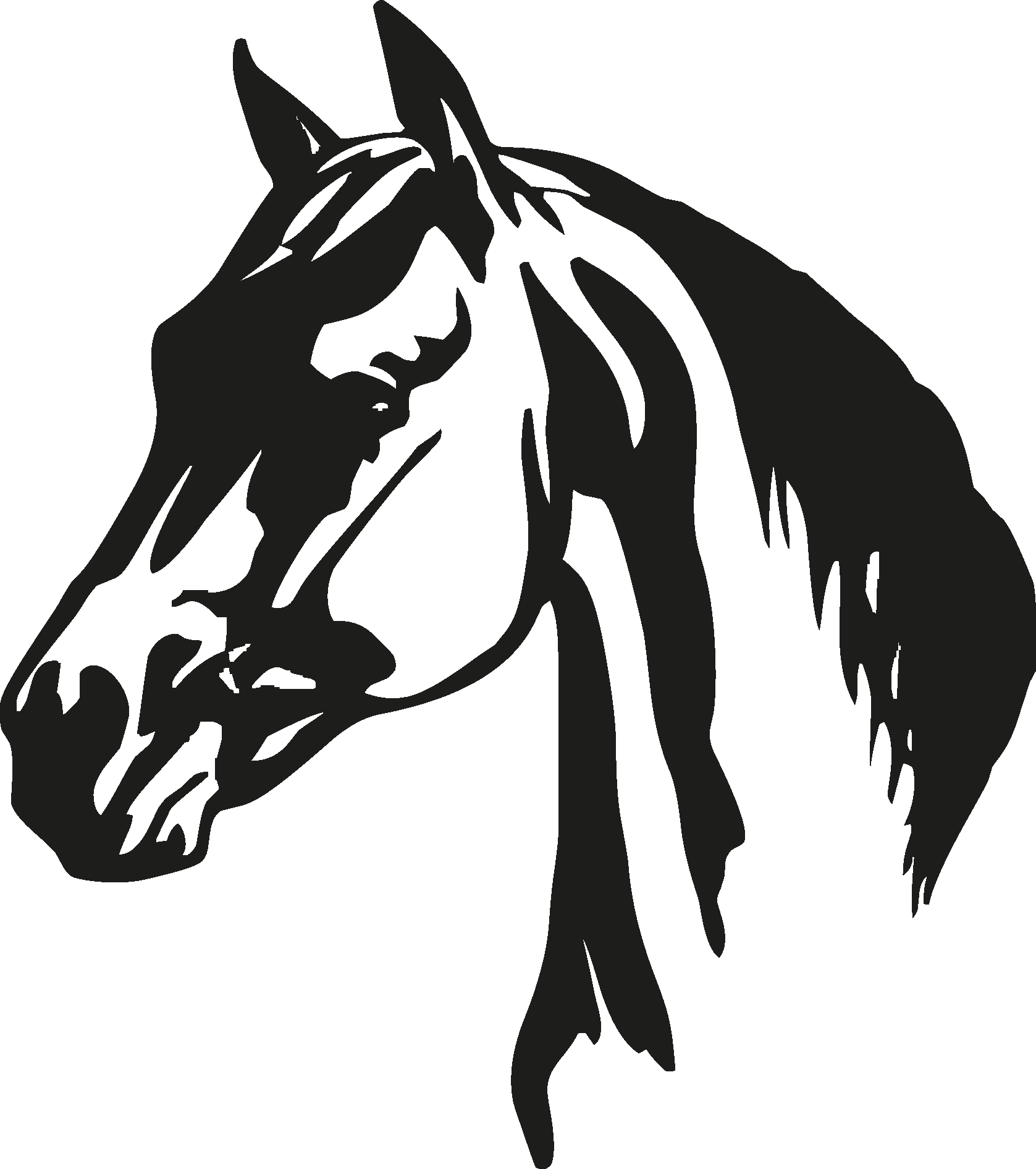 Horse Head Silhouette Png Image Horse Silhouette Horse Head Horses