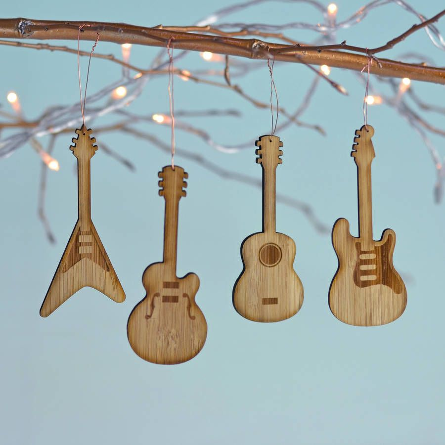 Bamboo Set Of Four Guitar Decorations | Guitar decorations, Copper ...