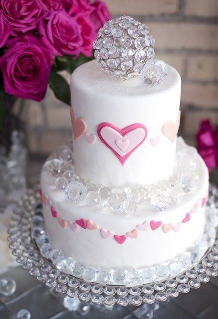 pink peach wedding cakes, valentine's day wedding shoot, 2014, Ideas