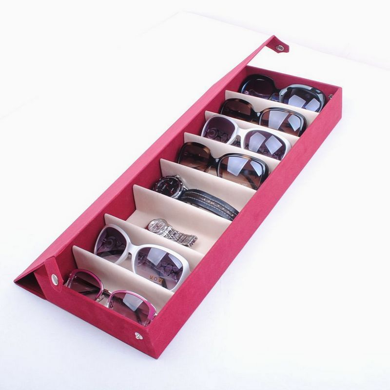 Cheap Box Collar, Buy Quality Box Automation Directly From China Box  Suppliers: 8 Deerskin Fleece Glasses Display Box Glasses Storage Box  Sunglasses Family ...