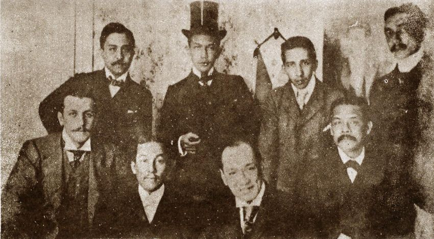 (Felipe Agoncillo (seated Second From Left) And Other