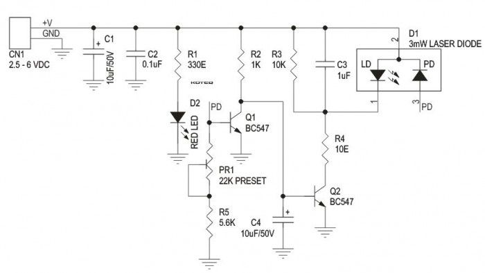 Laser Diode Driver Schemetic Diode Electronics Circuit Laser