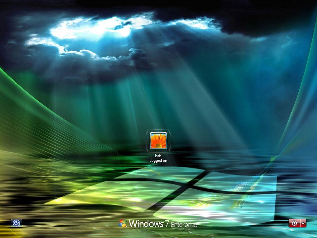 Windows 7 Logon Screen By Physx4 Customization Skins Themes