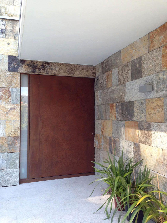 Swing entry door steel acoustic stv series corten for Steel front doors
