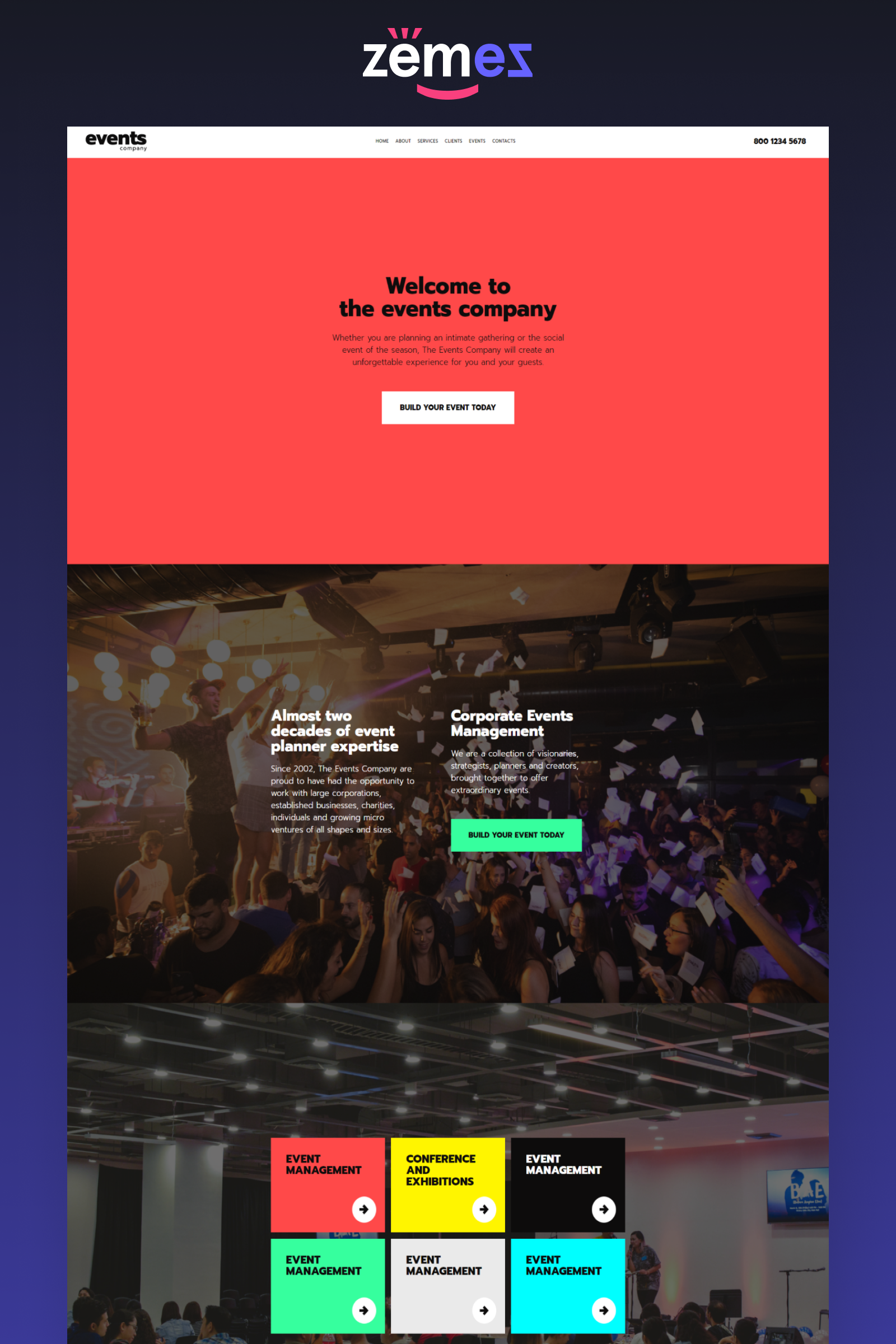 Innovative Event Management Template Events Company Event Management Corporate Wordpress Themes Event Company