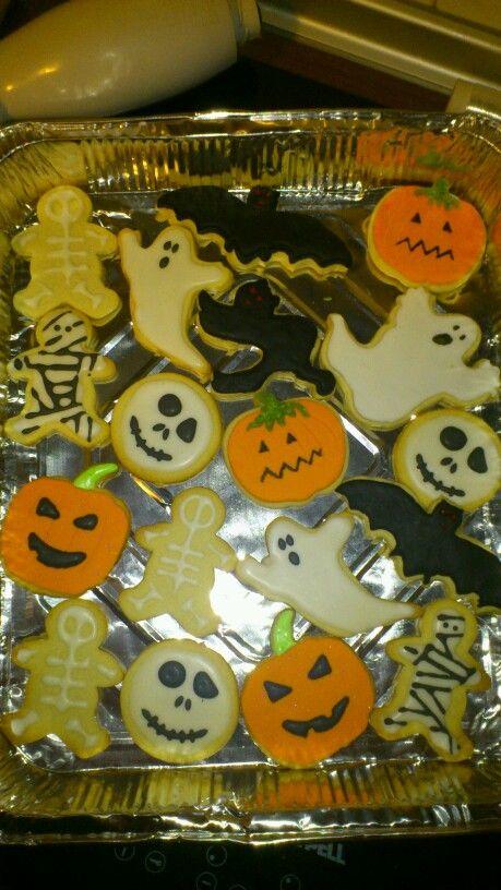 Galletas para la noche de halloween, realizado con Jessy
