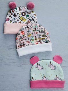 Baby-Mützen - kostenlose Pdf Vorlage und - Schritt für Schritt Bildanleitung - free pattern #bonnets