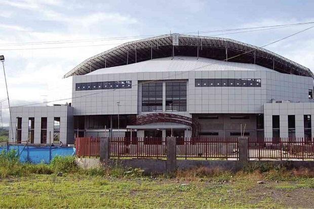 The Facade Of The Controversial Davao Del Sur Sports Complex That