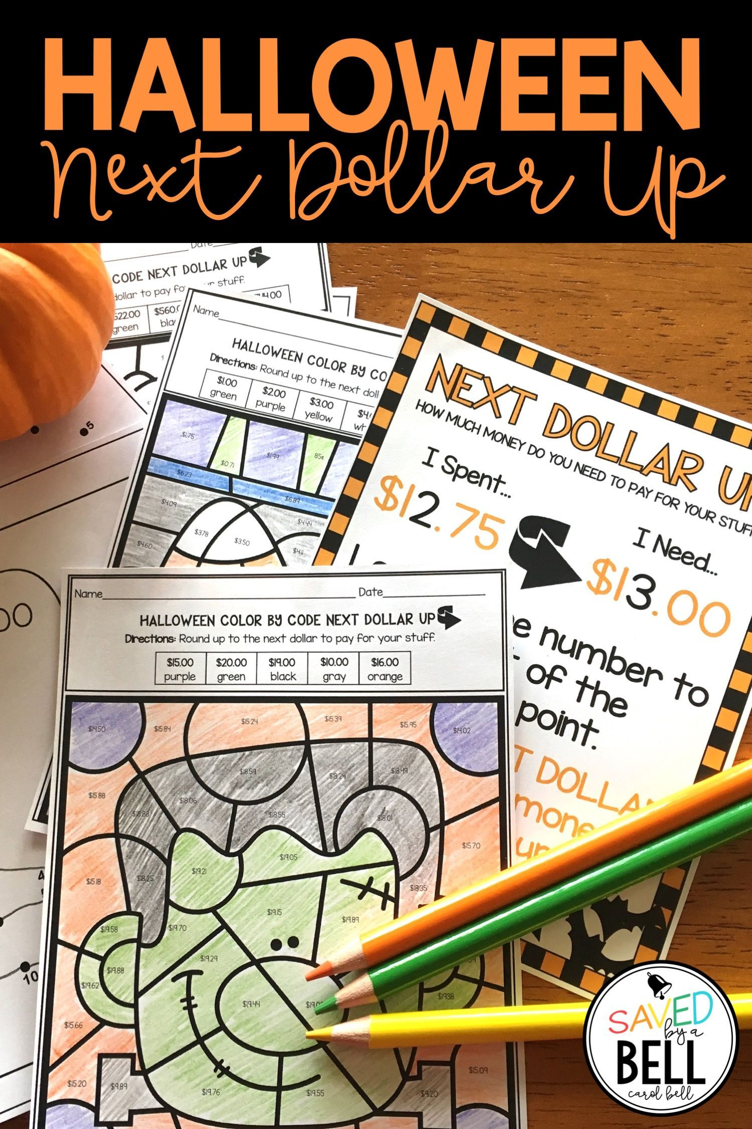 Halloween Worksheets Next Dollar Up