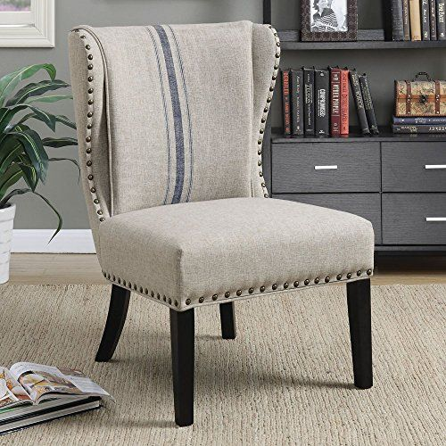 Best Coaster Upholstered Accent Chair In Gray And Black Coaste 640 x 480