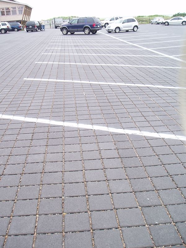 A Permeable Interlocking Concrete Pavement Shopping Center Parking Lot In Rhode Island Parking Lot Permeable Permeable Pavers