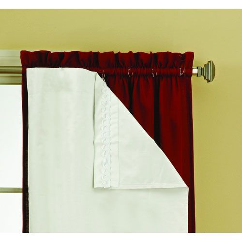 Thermaliner White 80 Inch Long Blackout Window Curtain Pair