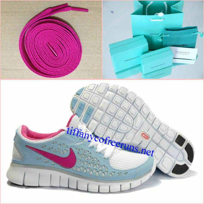 Womens Tiffany CO Earrings Rose Lace Nike Free Run Blue Pink Shoes