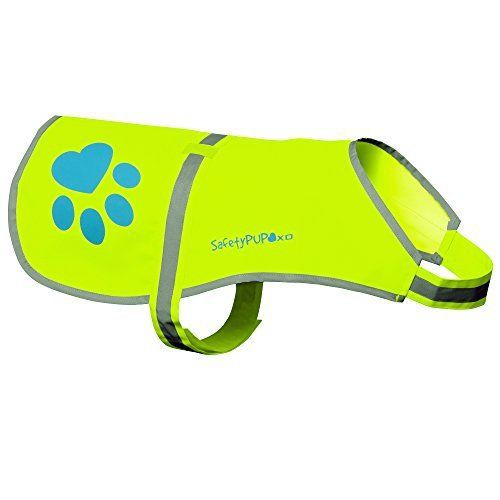 Dog Reflective Vest, Sizes to Fit Dogs 14 lbs to 130 lbs - SafetyPUP XD Hi Vis, Safety Vest Keeps Dogs Visible On and Off Leash in Both Urban and Rural Environments. (Neon Yellow, Medium) Medium Fits Dogs 35lbs - 60lbs - http://www.thepuppy.org/dog-reflective-vest-sizes-to-fit-dogs-14-lbs-to-130-lbs-safetypup-xd-hi-vis-safety-vest-keeps-dogs-visible-on-and-off-leash-in-both-urban-and-rural-environments-neon-yellow-medium-medium-fits/