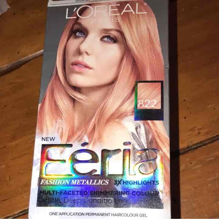 L Oreal Féria Fashion Metallics Rose Gold Hair Color