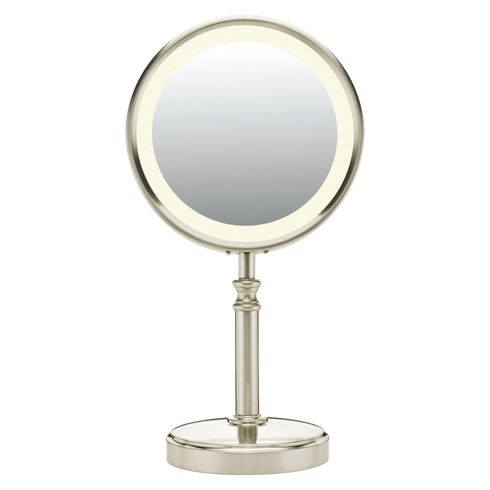 Conair Fluorescent Mirror Silver Makeup Mirror With Lights